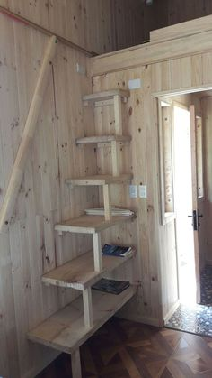 Escaleras – Salvabrani – Stairs – Salvabrani – 72 amazing attic stairs for small house ideas – Ideas Tiny House Stairs Storage Exciting loft stairs for small house ideas Tiny House Stairs, Loft Stairs, Tiny House Living, Cabin Loft, Attic Rooms, Attic Bathroom, Interior Stairs, House Entrance, Tiny Spaces