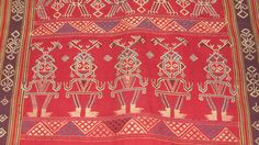 Section of Sungkit textile, Kalimantan, Borneo