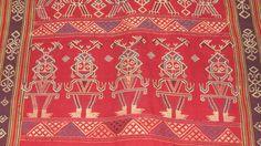 Section of Sungkit textile, Kalimantan, Borneo