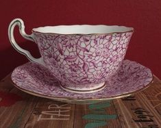 Collector tea cup and Saucer Adderley Bone China Tea Cup Saucer, Tea Cups, Best Herbal Tea, Pink Cups, China Cups And Saucers, Tea Pot Set, Vintage Cups, My Cup Of Tea, China Sets
