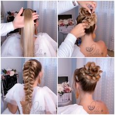 Elegant hairstyles for special events!                              By: @lalasupdos Bun Hairstyles For Long Hair, Braids For Long Hair, Elegant Hairstyles, Girl Hairstyles, Braided Hairstyles, Wedding Hairstyles, Lilith Moon Hairstyles, Elsa Hairstyle, Female Hairstyles