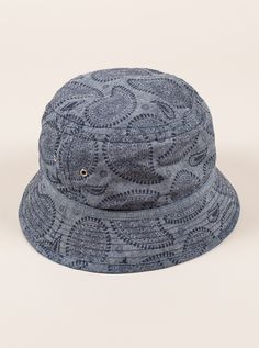 55dfdf7d363 Universal Works Navy Print Fisherman Hat in Paisley Chambray
