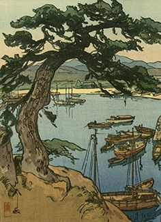 "Japanese Art Print ""Little Harbor"" by Yoshida Hiroshi ... http://www.amazon.com/dp/B01EPTKIO4/ref=cm_sw_r_pi_dp_tuaixb1QS5J11"