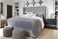 33 best grey upholstered bed ideas