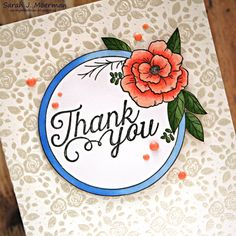 My Impressions: SSS August Card Kit: Floral Thank You & Giveway!