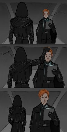 when Kylo Ren has a good day but is still mean to general #kyloren #generalhux