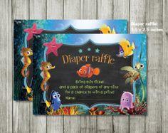 Baby Shower Invitation  Ocean Invitation   Finding Nemo   Nemo Invitation    Nemo Co Ed Baby Shower Invitation   Boy Girl Invitation