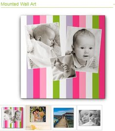 Mounted wall art by Shutterfly, great for Easter and spring photos