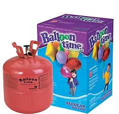Small Helium Tank 8.9cu ft 49.99 from partycity. or 54.99 for the tank and 30 latex balloons.
