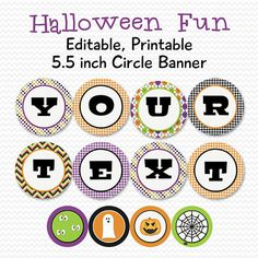 Halloween Party Banner, Party Decor, Printable Decorations by PrintCreateCelebrate