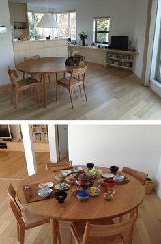 Circle Dining Table, Ikea Bed, Fantasy House, House 2, Just In Case, Dining Room, Interior Design, Kitchen, Image