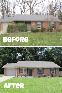 Click the link to see all the before and after photos from this flip. Complete transformation! Trash Removal, Interior Paint, Flipping, Ranch, Garage Doors, Backyard, Link, Outdoor Decor, Photos
