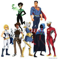 A rebooted Justice League, complete with a marble Wonder Woman and steampunk Cyborg