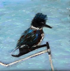 "Daily Paintworks - ""Female Kingfisher"" - Original Fine Art for Sale - © Shelley Koopmann"