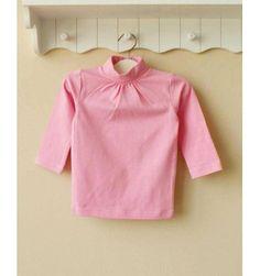 Mom and Bab Turtle Neck - Dark Pink - sadinashop.com  Kaos lengan panjang polos untuk bayi dan anak.