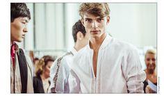Backstage at Hermès Spring/Summer 2015