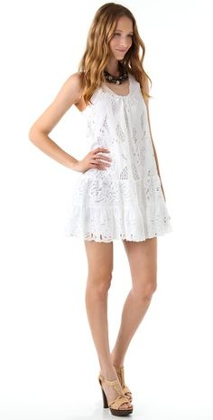 Catherine Malandrino Lace Tank Dress... so cute for summer!