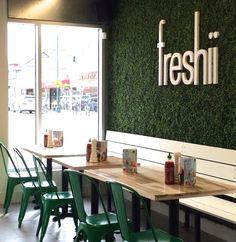 Freshii: Wood Slat Banquette