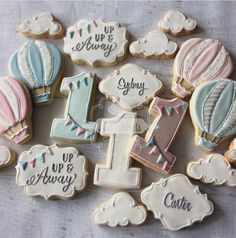 2nd birthday Up Up & Away <<love the cookies>>