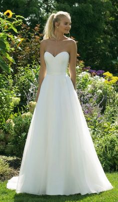 Courtesy of Justin Alexander wedding dresses Sweetheart collection