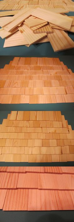 Other Wood and Project Materials 183160: 800 Small Tapered Shingles For Wood Crafts, Doll Houses, Dollhouse Miniatures -> BUY IT NOW ONLY: $64 on eBay!