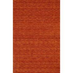 "Tonal Solid 100% Wool Accent Rug - Mandarin (Orange) (3'6""x5'6"")"