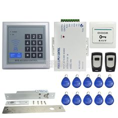 63.75$  Watch now - http://ali5y0.worldwells.pw/go.php?t=32724732434 - High quality RFID Door Access Control System Kit Set + Drop Bolt Door Lock +Rfid Keypad + Power + 2 Remote Free Shipping