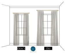 I swear! It drives me NUTS when people do not have drapes!!!!!! Especially in dining, living and bedrooms...oops did I just name all the rooms?!! LOL!! It just looks so ghetto with blinds!!!! - How to hang drapery / curtains like a designer!
