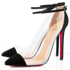 Christian Louboutin Shoes Bis Un Bout 120mm Pvc Pumps Black