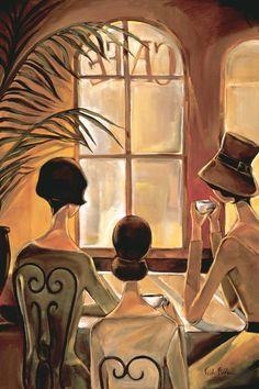 "Trish Biddle :  ""Cafe du Coin"" Trish Biddle © 2010"
