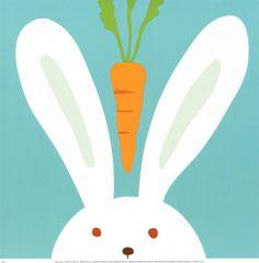 Peek-a-Boo I, Rabbit Art Print at AllPosters.com