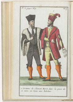 Le Mois, Journal historique, littéraire et critique, avec figures, Tome 1, No. 2, page 167, An. 7 (1798-1799): 1. Costume de Clement Marot..., Anonymous, 1798 - 1799