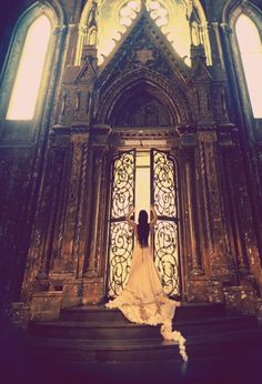 What is waiting for her beyond those doors? Cathedral in Mexico