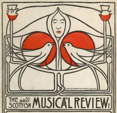 GLAHA 41540: Design for poster for 'The Scottish Musical Review' - click to view larger image