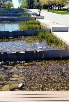 Water features · bioswale/rain gardens/bmps parking design, university of british columbia, urban landscape Landscape And Urbanism, Landscape Architecture Design, Urban Landscape, Rain Garden, Water Garden, Design Patio, Garden Design, Water Architecture, Water Management