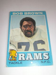 Bob Brown #16 1971 Topps Football Card Rams Tackle N.F.C. #Rams