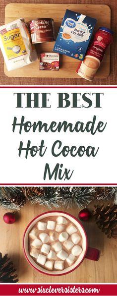 Hot Chocolate Gifts, Homemade Hot Chocolate, Chocolate Bomb, Hot Chocolate Bars, Hot Chocolate Recipes, Homemade Food, Homemade Hot Coco, Chocolate Powder, Diy Food