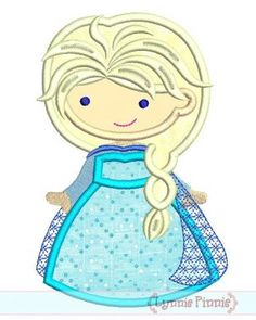 Embroidery Designs - Winter Queen Cutie Applique 4x4 5x7 6x10 SVG - Welcome to Lynnie Pinnie.com! Instant download and free applique machine embroidery designs in PES, HUS, JEF, DST, EXP, VIP, XXX AND ART formats.