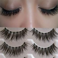 K03Transparent False Eyelashes Messy Cross Thick Natural Fake Eye Lashes Professional Makeup Tips Bigeye Long False Eye Lashes