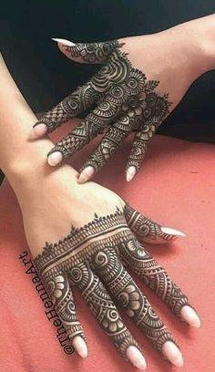 Henna Tattoo Designs Simple, Latest Arabic Mehndi Designs, Finger Henna Designs, Full Hand Mehndi Designs, Henna Art Designs, Mehndi Designs For Girls, Mehndi Designs For Beginners, Modern Mehndi Designs, Mehndi Design Photos