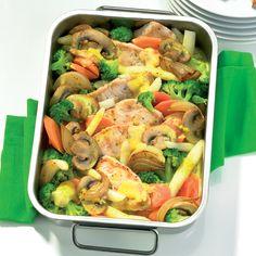 Geflügel-Gemüse-Gratin Rezept | Weight Watchers
