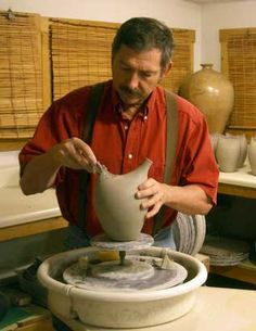 Lots of good explanations of pottery lingo. Ceramic Studio, Ceramic Clay, Ceramic Pottery, Pottery Art, Ceramic Techniques, Pottery Techniques, Pottery Tools, Pottery Wheel, Ceramics Projects