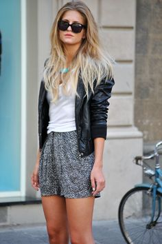 I love pairing my leather jackets with, well, everything