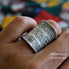 Ilkay Silver Tribal Ring Gypsy Ring Bohemian by sowelljewelry