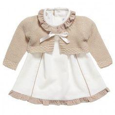 Paz Rodriguez Baby Girls Pink Pram Coat and Bonnet Baby Girls, Baby Girl Dresses, Baby Baby, Dress With Cardigan, Baby Cardigan, Ivory Dresses, Baby Sweaters, Baby Girl Cardigans, Kids Fashion