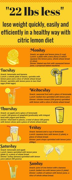 Lemon diet for weight loss is kept 14 days and during this time period can be downloaded up to 22 lbs. Diet with lemon will not be effective if you do not follow diet plans and menus.