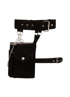 Necessary Evil Laverna Pocket BeltThis incredible pocket belt from Necessary Evil will help you to stay organised in ultimate gothic style! This practical and attractive accessory features a chunky waist belt with O-rings, and hanging from this ar. Kpop Fashion Outfits, Emo Outfits, Stage Outfits, Curvy Outfits, Korean Outfits, Aesthetic Grunge Outfit, Aesthetic Clothes, Gothic Outfits, Alternative Fashion