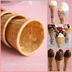 Ice cream cone cuppies