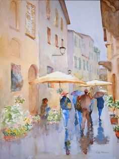 Showers and Flowers, 2008 - Roderick Brown - Watercolor