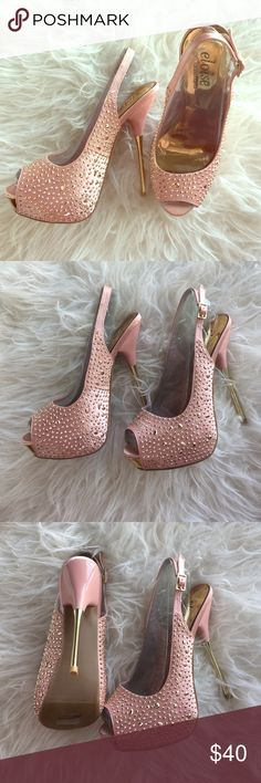 Shoedazzle Eloise Limited Edition Denise Richards Shoedazzle Eloise Blush Size 7 Heels Brand New in original box. Profits went toward Breast Cancer Research and were designed by Denise Richards for Shoedazzle Shoe Dazzle Shoes Heels